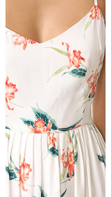 BB Dakota Lila Rio Printed Midi Dress