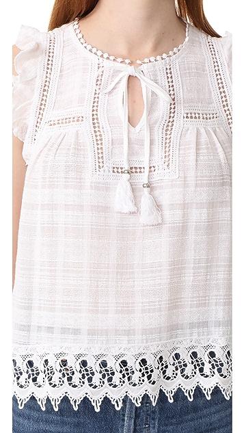 BB Dakota Carrieann Novelty Lace Trim Top