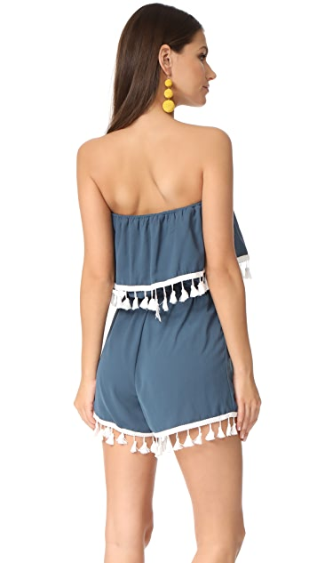 BB Dakota Jack by BB Dakota Faith Fringe Trim Romper