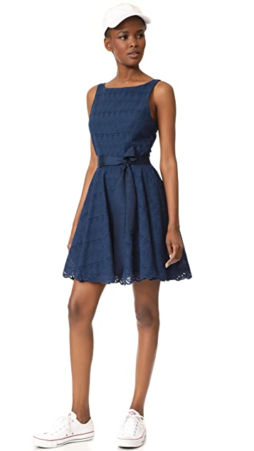 BB Dakota Ty Eyelet Trim Dress