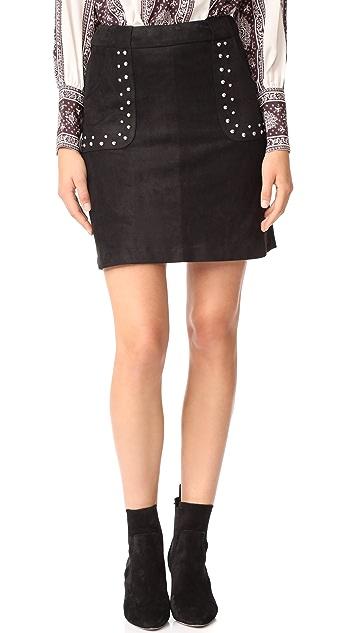 BB Dakota Cain Faux Suede Skirt
