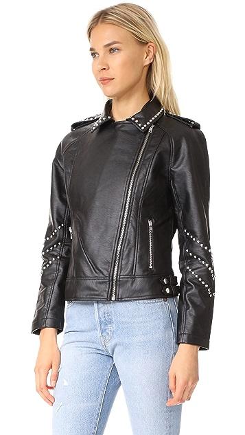 BB Dakota Jerilyn Studded Washed Jacket