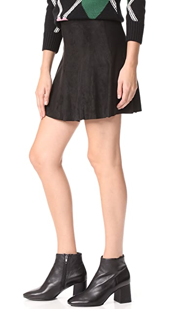 BB Dakota Aileen Faux Suede Skirt
