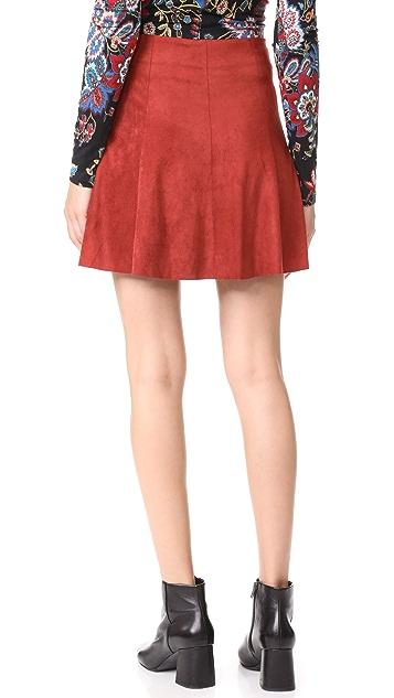 BB Dakota Aileen Faux Suede Skirt
