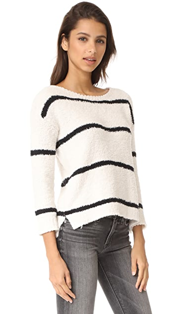 BB Dakota Karin Striped Chenille Sweater