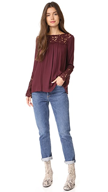 BB Dakota Zanna Lace Long Sleeve Top