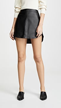 Conrad Leather Mini Skirt