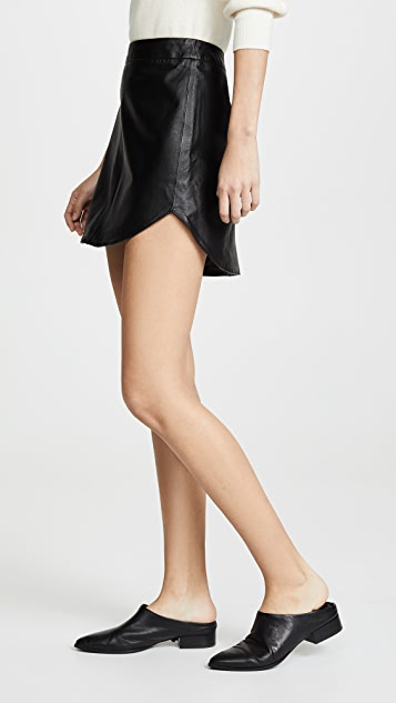 BB Dakota Conrad Leather Miniskirt