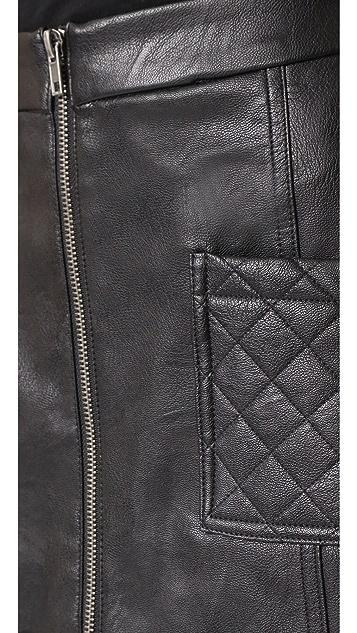 BB Dakota Jack by BB Dakota Cohen Faux Leather Skirt