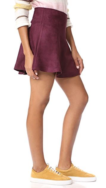 BB Dakota Jack by BB Dakota Hal Faux Suede Scuba Skirt