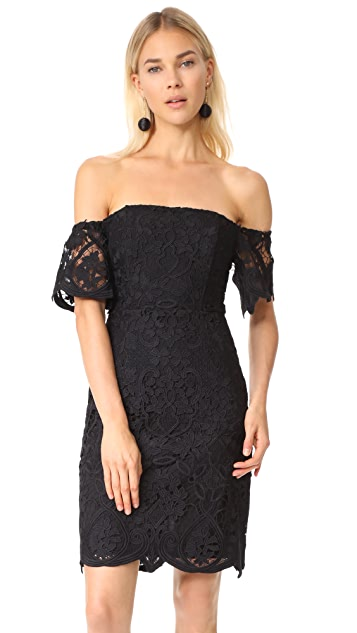 BB Dakota RSVP Nathalie Off Shoulder Lace Dress