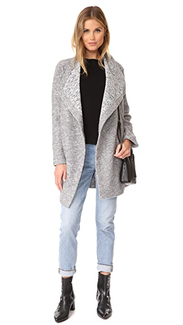 BB Dakota Maggie Drape Front Coat