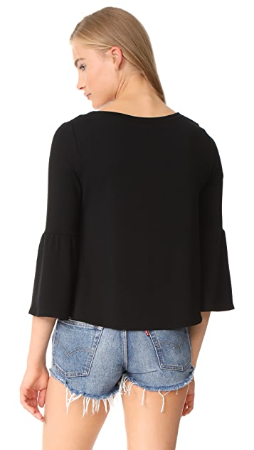 BB Dakota Libby Flare Sleeve Crop Top