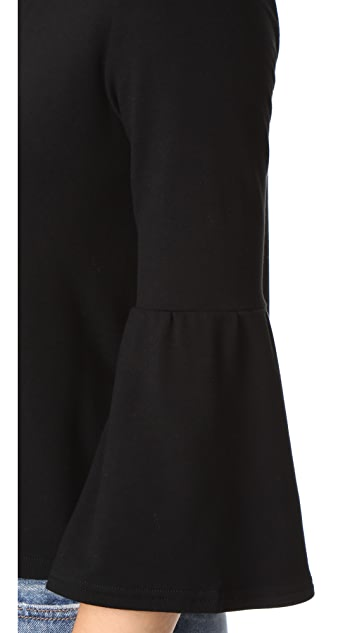 BB Dakota Libby Flare Sleeve Crop Top