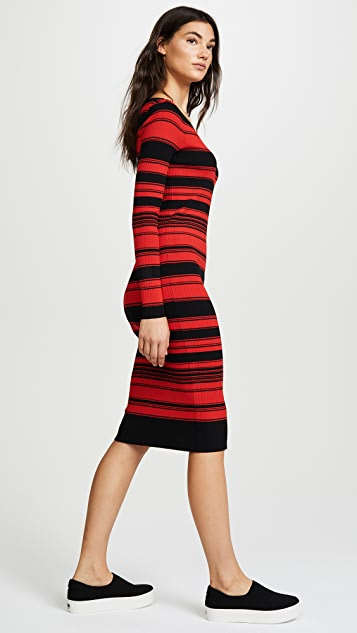 BB Dakota Dunn Striped Sweater Dress