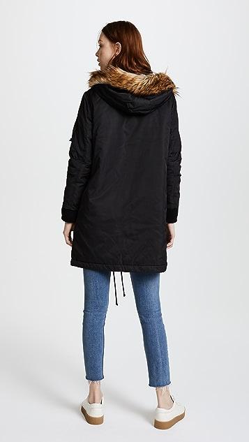 BB Dakota Hooded Anorak with Faux Fur Trim