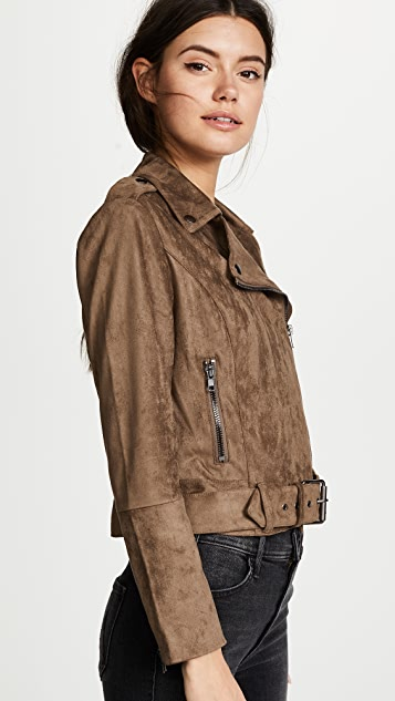 Bb Dakota Waller Faux Suede Moto Jacket Shopbop
