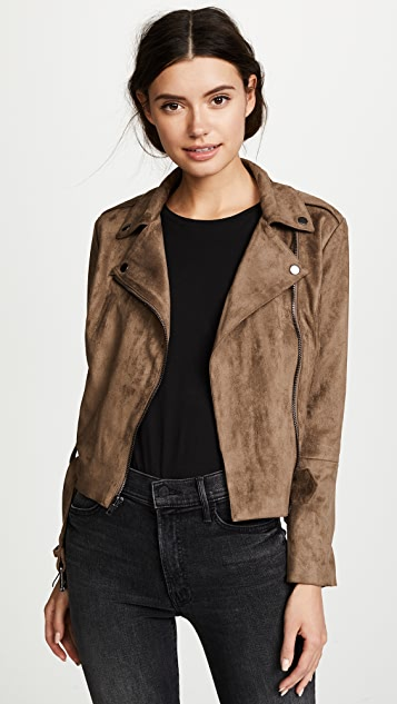 BB Dakota Waller Faux Suede Moto Jacket