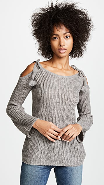 BB Dakota Mellie Tie Shoulder Ribbed Sweater