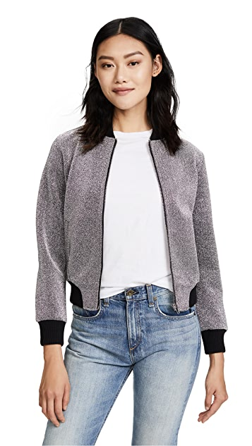 BB Dakota Briarlyn Metallic Bomber Jacket