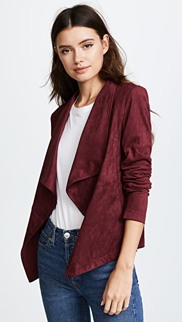 suedette suede jacket inspired waterfall cardigan celeb dp drape draped ladies faux l m open drapes womens