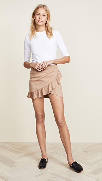BB Dakota Jack by BB Dakota Khan Faux Suede Skirt