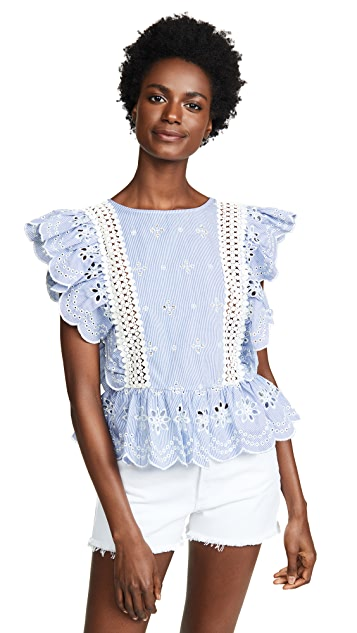 BB Dakota Eyelet Blouse