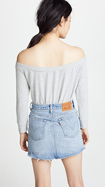 BB Dakota Hacci Off The Shoulder Sweatshirt