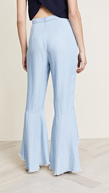 BB Dakota Atwell Ruffle Pants