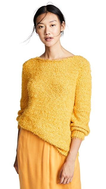 BB Dakota Shrug it Off Boucle Balloon Sleeve Sweater
