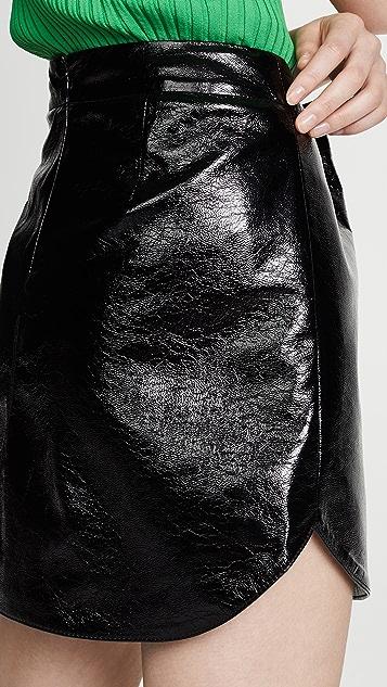 BB Dakota Retro Royalty Vinyl Mini Skirt