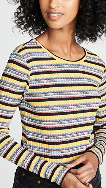 BB Dakota Taste The Rainbow Long Sleeve Top
