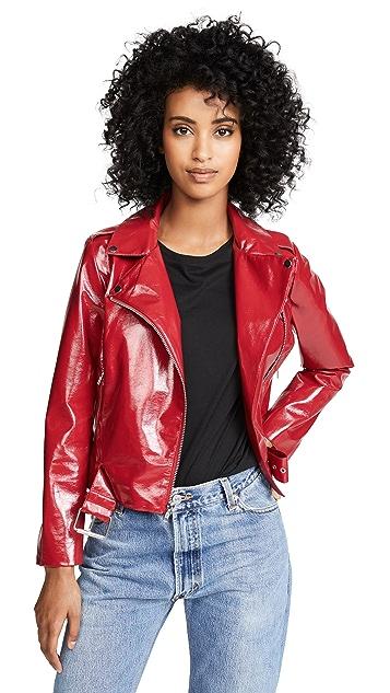 BB Dakota It's Electric Vinyl Moto Jacket