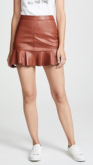 BB Dakota Veni Vidi Vici Vegan Leather Miniskirt