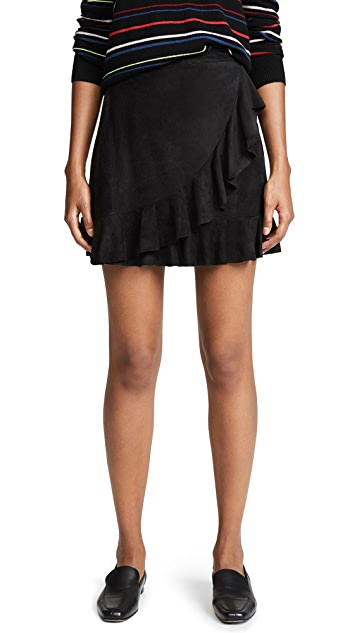 BB Dakota It's A Vibe Faux Suede Skirt