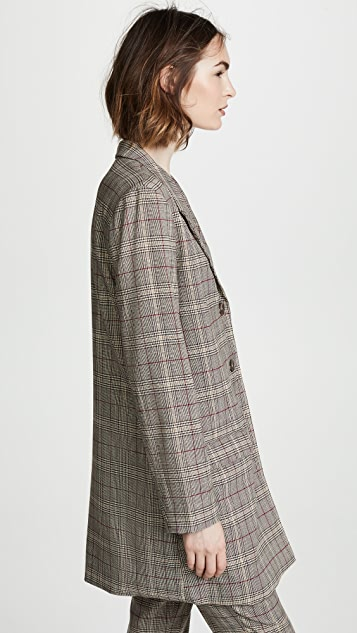 BB Dakota Ex Boyfriend Plaid Blazer
