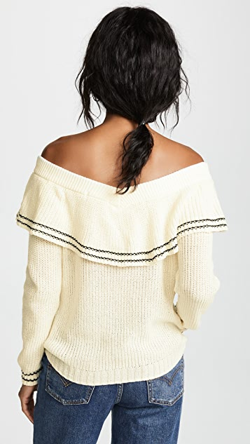 BB Dakota Rush Week Off Shoulder Ruffle Sweater