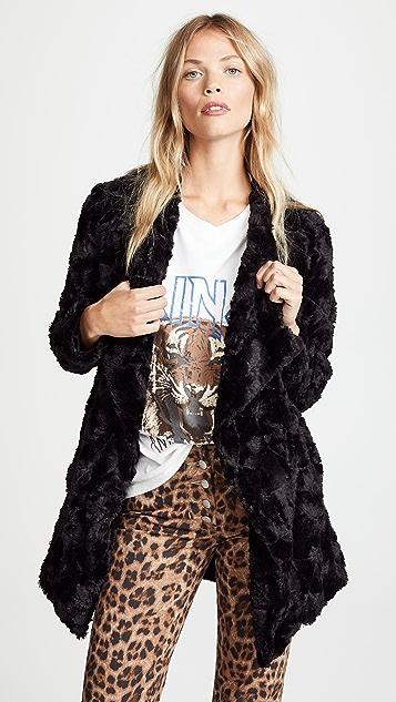 BB Dakota Tucker Faux Fur Drape Front Jacket