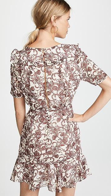 BB Dakota Twirl Wind Chiffon Dress