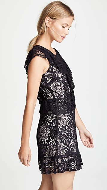 BB Dakota Shaken Not Stirred Lace Ruffle Dress