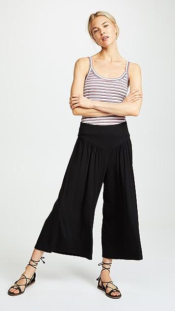 BB Dakota Cropped Wide Leg Pants