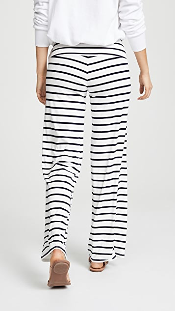 BB Dakota Striped High Waist Wide Pants