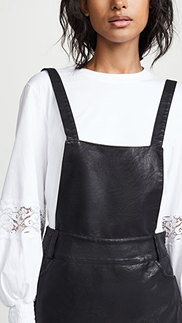 BB Dakota JACK Vegan Leather Pinafore Dress
