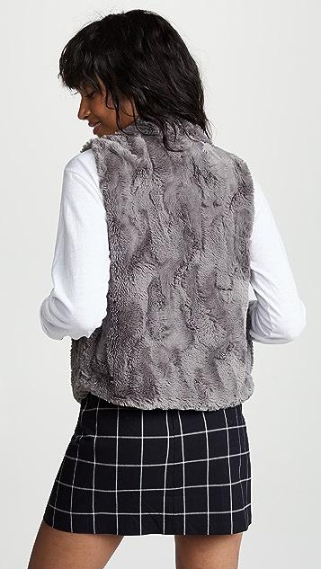 BB Dakota JACK Big Softy Faux Fur Drape Front Vest