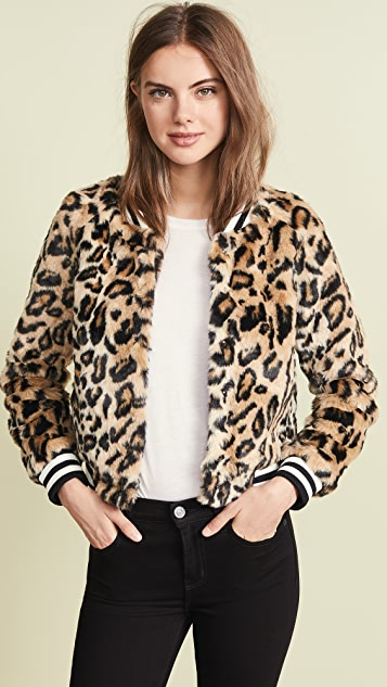 BB Dakota Jack by BB Dakota Clever Girl Leopard Faux Fur Bomber