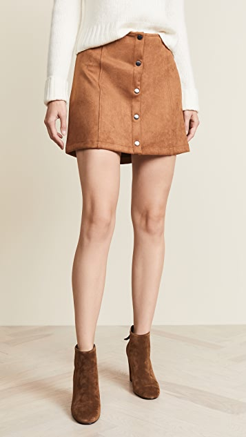 BB Dakota JACK Can't Buy Me Love Faux Suede Skirt