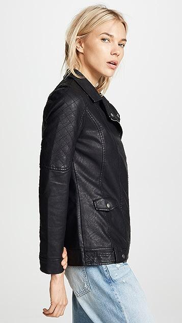 BB Dakota Jack by BB Dakota Can't Be Tamed Vegan Leather Moto Jacket