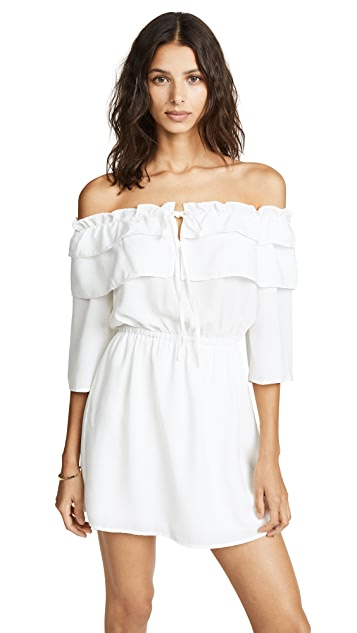 BB Dakota Off Shoulder Ruffle Dress