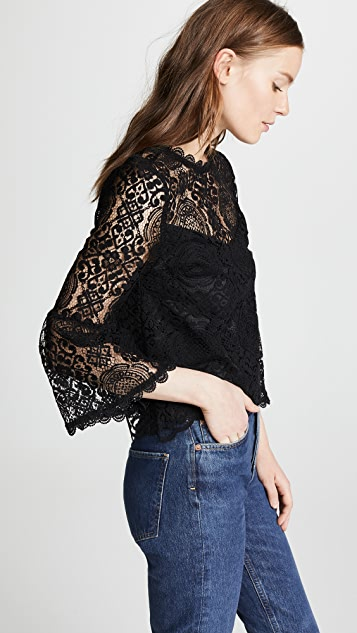 BB Dakota Amazing Lace Bell Sleeve Top