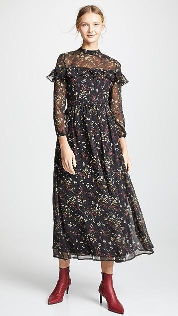 BB Dakota Floral Attire Chiffon Dress